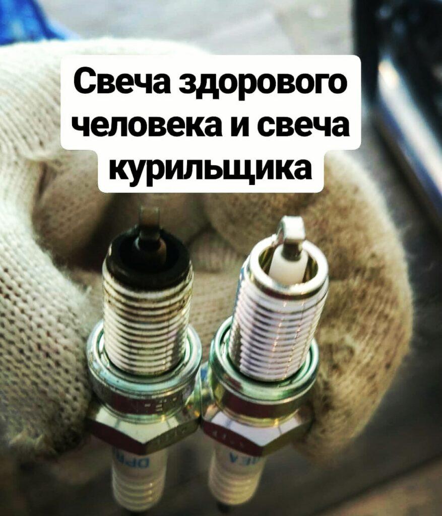 Замена свечей зажигания на мотоцикле